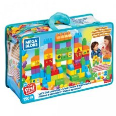 Fisher Price Mega Bloks Build 'n Learn Let's Learn Deluxe building bag