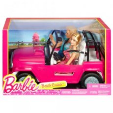 Barbie Beach cruiser met Ken en Barbie