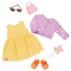 204.000.341 Our generation Summer Dress Sunshine & Stars Deluxe Outfit