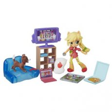 My Little Pony Equestria Girls Minis Applejack Slumber Party Games Set